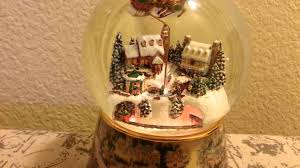 Thomas Kinkade Christmas Tree Village by Thomas Kinkade Snow Globe Youtube