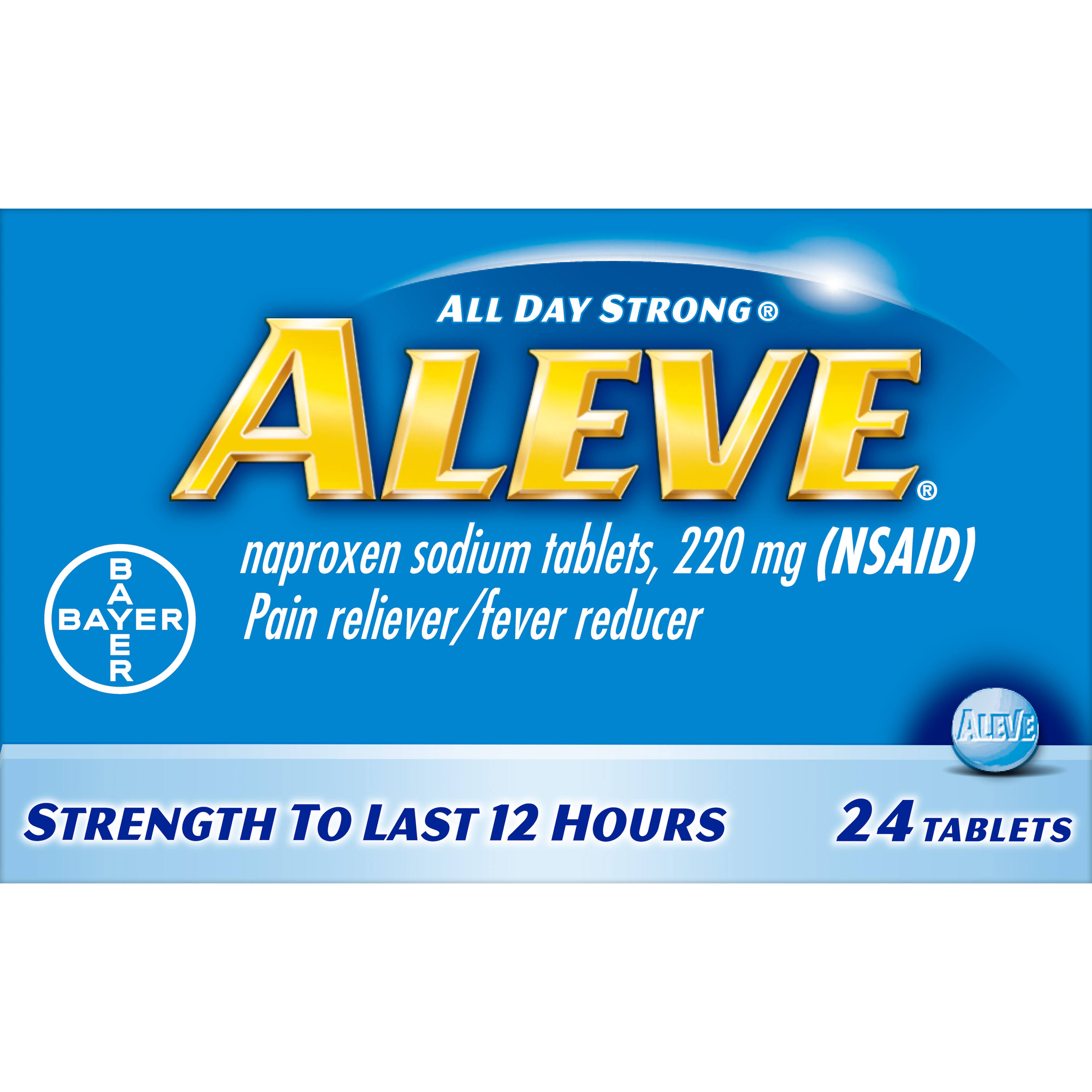Aleve Pain Reliever and Fever Reducer Tablets - 24 Count