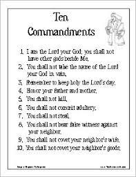 Ten Commandments Poster Version 2