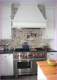 white brick backsplash kitchen