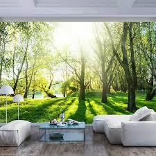 wald landschaft vlies fototapete sonne natur grün wand