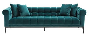 casa padrino luxus samt sofa meergrün schwarz 240 x 98 x h 69 cm wohnzimmer sofa mit 4 kissen wohnzimmer möbel luxus möbel
