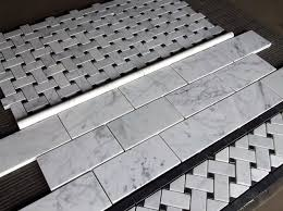 carrara bianco 3x6 subway tile price per square foot traditional