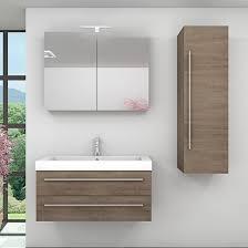 badmöbel set city 101 v3 eiche braun badezimmermöbel waschtisch 100 cm nein ohne led beleuchtung