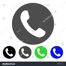Phone Number flat vector illustration Colored phone number gray black blue
