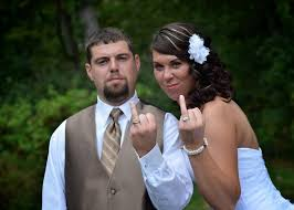 Country Rustic Wedding Bride And Groom Ring Finger Mean Mug Funny