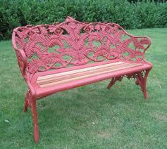 coalbrookdale fern and blackberry pattern garden benches pair fern