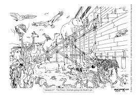 Coloring Pages Page The Great Flood Printable Noah Ark