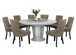 NL MTX55B5 Luxury Design Round Marble Dining Table Set (1 + 8)