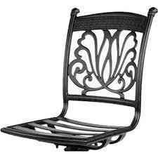 Cast Aluminum Patio Furniture With Sunbrella Cushions by Bar Stool Armless Patio Barstool Cast Aluminum Sunbrella Cushions