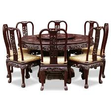 Round Dining Room Sets For 8 by Chinese Dining Room Furniture Set With Oversized Round Table And 8