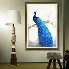 2018 Pretty Peacock Brightly 3d Oil Canvas Painting For Diy Diamond Wall Picture Living Room Decor From Garden1988 3269