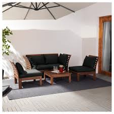 Runnen Floor Decking Outdoor Brown Stained by äpplarö 4 Seat Conversation Set Outdoor Brown Stained Hållö