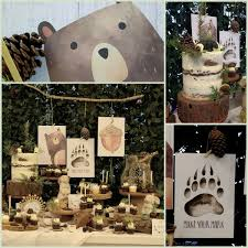 Forest Party Woodland Animal Baby Shower Bear Baby Shower