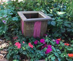 Pink Flower Pot Holder Farmhouse Decor Boho Plant Western Wedding
