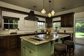 Kitchen Countertop Decorative Accessories by Retro Kitchen Design Pictures Beautiful Black Green Ceramic Floors