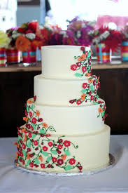 Floral Tiered Vegan Wedding Cake
