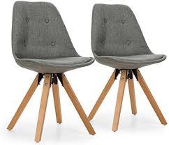 oneconcept iseo schalenstuhl retrostuhl esszimmerstuhl 70er jahre look retro design 2er stuhl set breite leicht gebogene sitzfläche