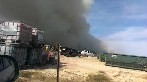 Live Oak Pumpkin Patch Fire by Firefighters Battle Mulch Fire In Selma