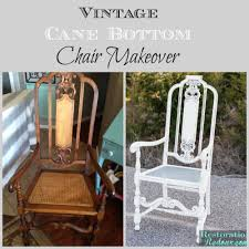 Vintage Banana Rocking Chair by Vintage Cane Bottom Chair Makeover Restoration Redoux
