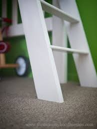 Build Loft Bed Ladder by Diy On A Dime How To Make A Toddler Loft Bed Out Of An Old Crib