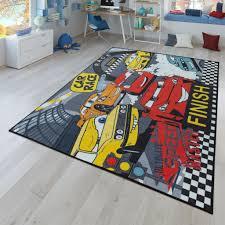 kinder teppich wendbarer teppich mit straßen design und auto motiven in grau größe 300x400 cm