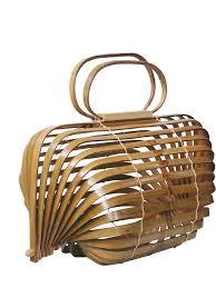 100 Axis Design Group Unique Bamboo Basket Bamboo Bag Hollow Beach Bag Handbag Foldable Bag Rotatable Axis A4525