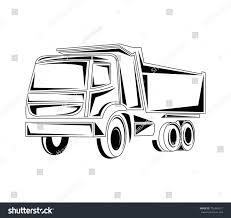 100 Truck Line Dumb Art Vector Illustration Stock Vector Royalty Free