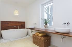 holz möbel im badezimmer