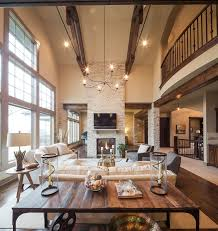 Cinetopia Living Room Pictures by Model Home Starr Homes Llc Rustic Living Room Kansas City