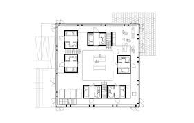 plan cuisine collective cubity plan du premier niveau 6 chambres individuelles un