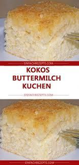 kokos buttermilch kuchen buttermilchkuchen
