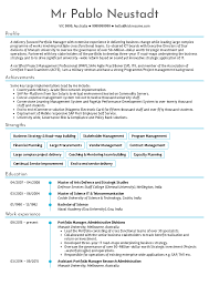 Resume Examples By Real People Senior Project Manager Sample With It