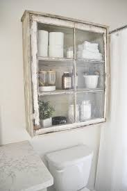Upcycled Over Toilet Bathroom Storage Cabinet