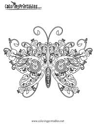 Download Coloring Pages Printable Butterfly Adult Page For