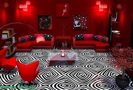 Red And Black Living Room Decorating Ideas by Red And Black Themed Living Room Ideas Rhydo Us