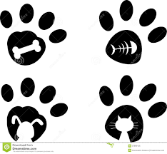 cat paw prints paws royalty free stock photo image 37899125