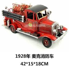 99 Truck Craft Top Grade Europe Style Retro 1928 Mike Fire Engine Model Creative