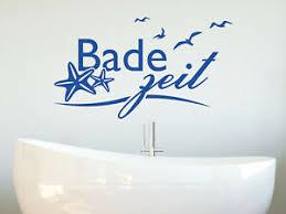 details zu wandtattoo bade zeit maritim badezimmer duschbereich muscheln meer wandaufkleber