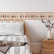 wall wandtattoo schlafzimmer bordüre tulpen