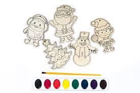 Wood Craft Shapes Or Wooden Cutouts Including Santa Christmas