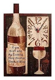 Good Wine And Food Wall Clock