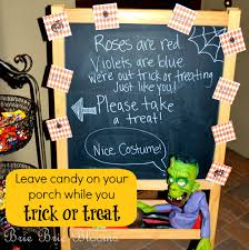 Halloween Candy Dish Craft by We Leave A Bowl Of Unattended Candy On Our Porch With A Fun Sign