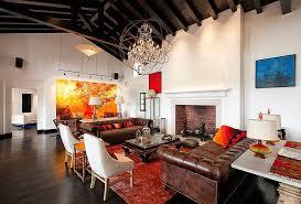 Spacious Modern Mediterranean Living Room Design Harrison
