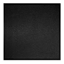 Vinyl Ceiling Tiles 2x2 by Genesis 2 Ft X 2 Ft Stucco Pro Revealed Edge Black Ceiling Tile
