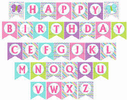 free printable birthday banners personalized Maginezart