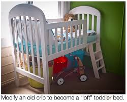 Cribs That Convert To Toddler Beds by Diy On A Dime How To Make A Toddler Loft Bed Out Of An Old Crib
