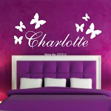 Wall Stickers Kids Promotion Shop For Promotional Personalised Butterfly Name Sticker Art Decal Any Bedroom Free Shipping