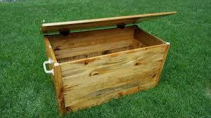 diy pallet wood chest u2013 toy box pallet furniture diy
