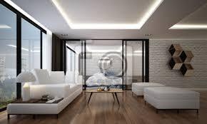 die innen 3d rendering design modernen luxus wohnzimmer und bilder myloview